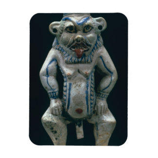 Kohl pot in the form of the god Bes, New Kingdom, Magnet