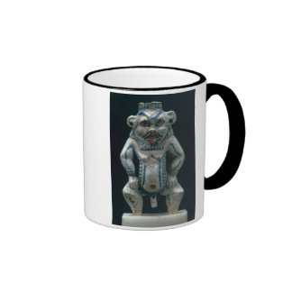 Kohl pot in the form of the god Bes New Kingdom Mugs