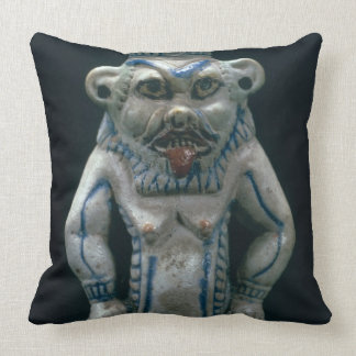 Kohl pot in the form of the god Bes New Kingdom Pillows