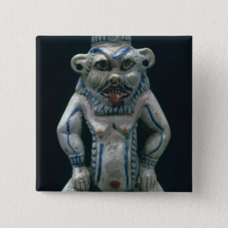 Kohl pot in the form of the god Bes, New Kingdom, Pinback Button