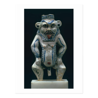 Kohl pot in the form of the god Bes, New Kingdom, Postcard
