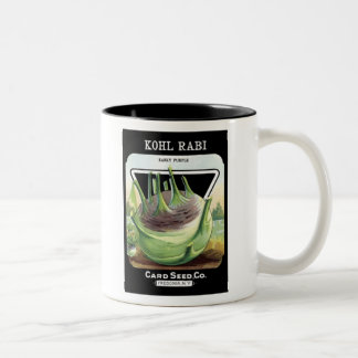 Kohl Rabi Early Purple Card Seed Co Coffee Mugs