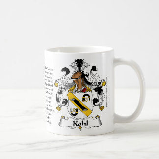 Kohl the Origin the Meaning and the Crest Mugs