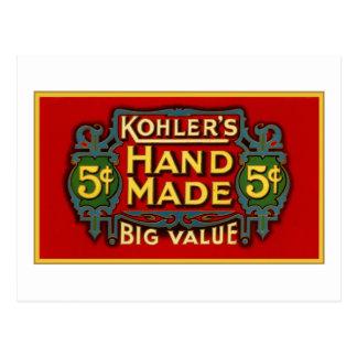 Kohler's Cigars - 1900 Postcard