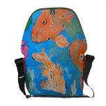 Koi Amongst Lotus Messenger Bag