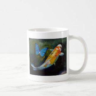 Koi and Butterfly Mug