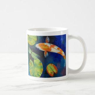 Koi and Dragonfly Mug