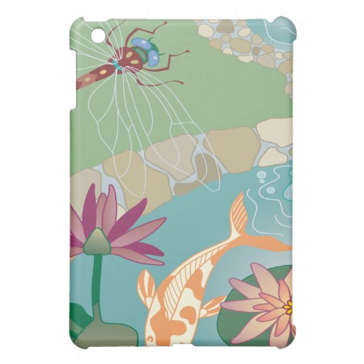 Koi and Dragonfly Water Garden Case For The iPad Mini