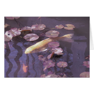 Koi and Lillypads Greeting Card