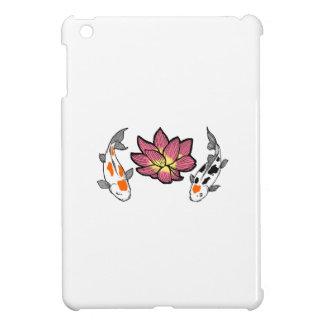 KOI AND LOTUS APPLIQUE iPad MINI CASE