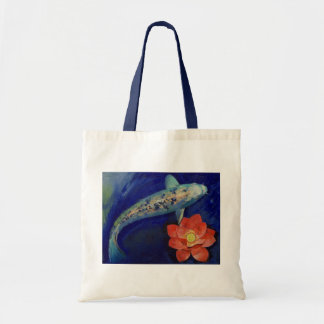 Koi and Lotus Bag
