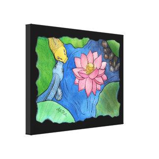 """""""Koi and pink Lotus"""" by Agni Kama Canvas Print"""
