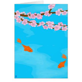 Koi and Sakura Note Card