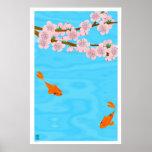 Koi and Sakura Poster