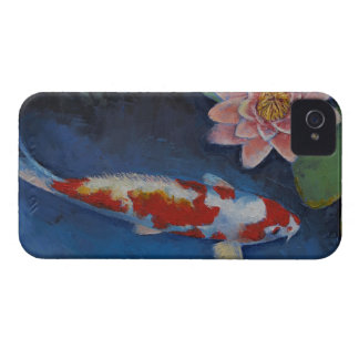 Koi and Water Lily iPhone 4 Cover