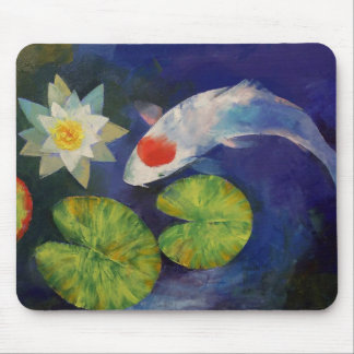 Koi and Water Lily Mousepad