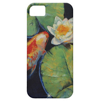 Koi and White Lily iPhone SE/5/5s Case