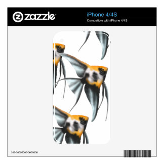 Koi Angelfish Zazzle Skin Skin For The iPhone 4