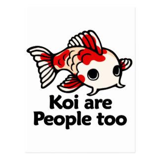 Koi are people too postcard