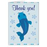 Koi azul le agradece las tarjetas