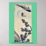 Koi bajo rama del pino por Maruyama, Okyo Ukiyoe Posters