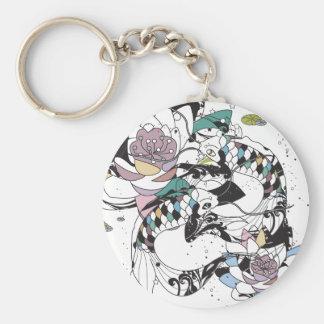 Koi Basic Round Button Keychain