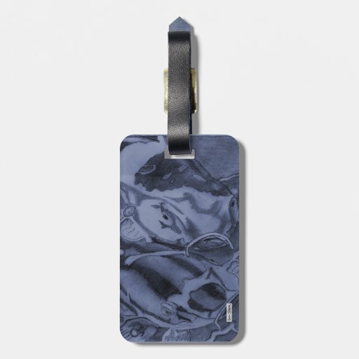 Koi (Blue) Tags For Bags
