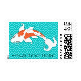 Koi bonito sello postal