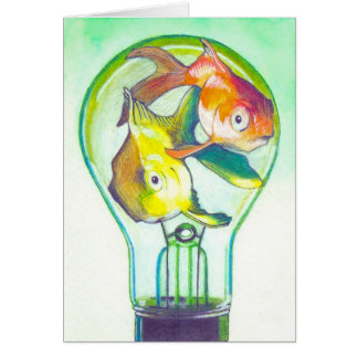 """Koi Bulb"" Surreal Art Notecard by Ashazart"
