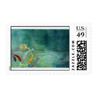Koi by Moonlight Stamp