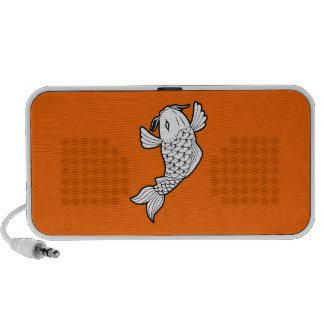 Koi / Carp 鯉 Pictogram Doodle Speaker