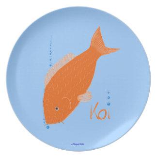 Carp plates zazzle for Decorative carp