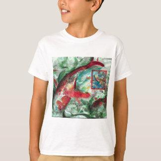 Koi Carp Fish Painting T-Shirt