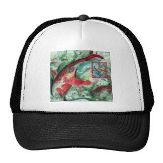 Koi Carp Fish Painting Trucker Hat