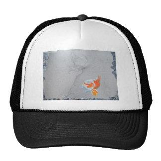Koi carp in pond trucker hat