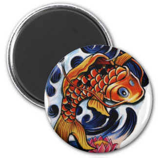 koi carp lilly 2 inch round magnet