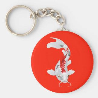 Koi carp oriental fish key chain