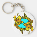 Koi, Carp, Pisces Basic Round Button Keychain