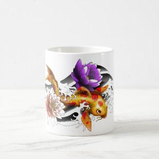 koi carp tattoo coffee mug