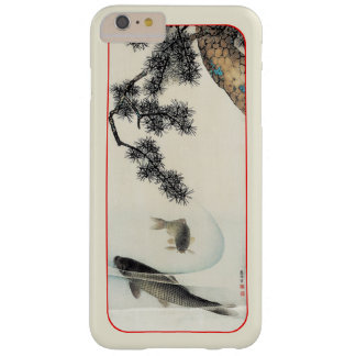Koi carp under a pine branch vintage print barely there iPhone 6 plus case