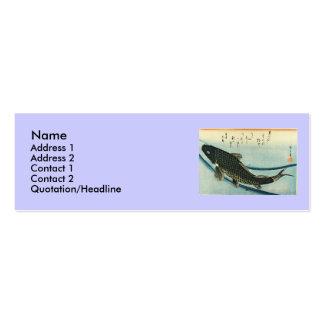 Koi (carpa) - impresión japonesa de los pescados tarjetas de visita mini