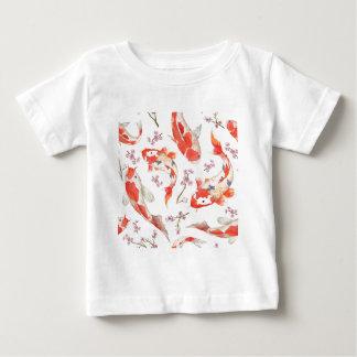 Koi Cherry Blossom Pattern Baby T-Shirt