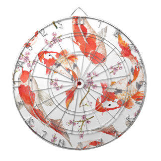Koi Cherry Blossom Pattern Dartboards