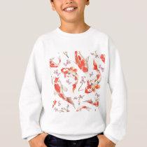Koi Cherry Blossom Pattern Sweatshirt