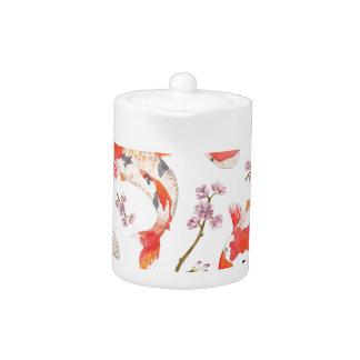 Koi Cherry Blossom Pattern Teapot