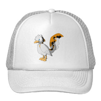Koi-Colored Reptilian Bird Trucker Hat