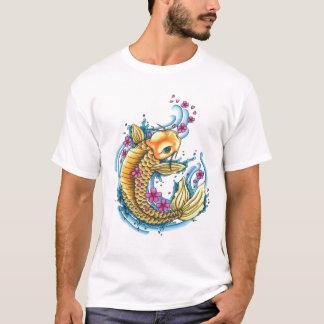 Koi con las flores de cerezo EDUN VIVE camiseta de