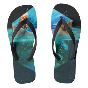 Beach Themed Koi Cubed Flip Flops