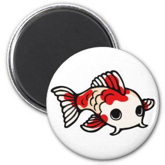 Koi Design 2 Inch Round Magnet