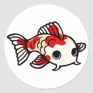 Koi Design Classic Round Sticker